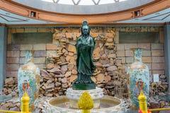 El jade más grande Quan Yin Bodhisattva del mundo en Tailandia Fotografía de archivo