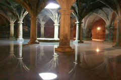 El Jadida. Underground Portuguese Water Cistern, El Jadida, Morocco. El Jadida, previously known as Mazagan, was seized in 1502 by the Portuguese. The cistern royalty free stock photos