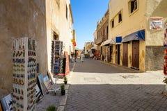 Architecture of El Jadida, Morocco. EL JADIDA, MOROCCO - SEP 1, 2015: Architecture of the Portuguese Fortified City of Mazagan, UNESCO World Heritage Site, El Royalty Free Stock Images