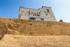 Architecture of El Jadida, Morocco. EL JADIDA, MOROCCO - SEP 1, 2015: Citadel of the Portuguese Fortified City of Mazagan, UNESCO World Heritage Site, El Jadida stock photography