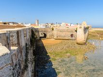 Architecture of El Jadida, Morocco. EL JADIDA, MOROCCO - SEP 1, 2015: Citadel of the Portuguese Fortified City of Mazagan, UNESCO World Heritage Site, El Jadida royalty free stock image