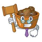 El jamun del gulab del juez asperjó con la mascota del azúcar stock de ilustración