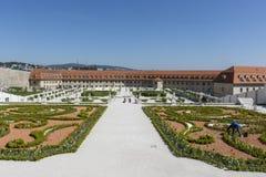 El jardín barroco en Bratislava fotografía de archivo