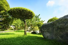 El jardín de piedras es parque público Imagen de archivo libre de regalías