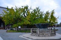 El jardín de Shoseien en el templo Kyoto Japón de Higashi Honganji Foto de archivo libre de regalías