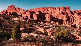El jardín del diablo en los arcos parque nacional, Utah fotografía de archivo