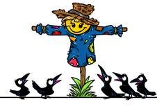El jardín del espantapájaros ravens la historieta del asombro stock de ilustración