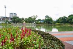 El jardín del lago Permaisuri es uno del parque famoso en Cheras foto de archivo libre de regalías