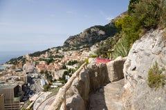 El jardín exótico de Mónaco Foto de archivo