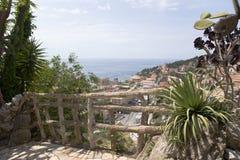 El jardín exótico de Mónaco Imagenes de archivo