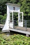El jardín histórico del castillo Anholt en Rin-Westfalia del norte, Alemania Fotografía de archivo
