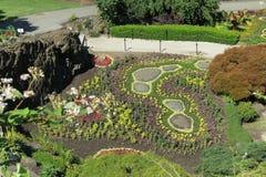 El jardín hundido del parque de QE Fotografía de archivo