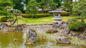 El jardín japonés conmemorativo de Fujita en Hirosaki, Japón fotos de archivo