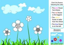 El jardín - pintura por reglas Imagen de archivo libre de regalías