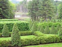 El jardín y el castor acumulan, Lenox, mA Foto de archivo libre de regalías
