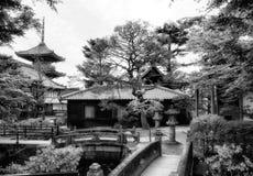 El jardín y los templos del zen en la primavera parquean, la estación de primavera de Japón, parque de la primavera en Kyoto, Jap foto de archivo libre de regalías