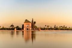 EL Jardin de la Menara, C4marraquexe, Marruecos foto de stock royalty free