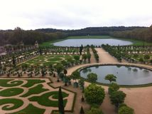 EL jardin de versalles de del lago en da vista Imagem de Stock