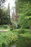 El jardín de Ninfa Imagenes de archivo