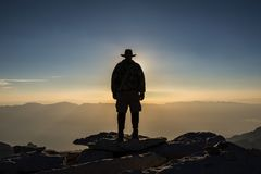 El Jefe de la Sierra Nevada, Summit of Mt Whitney stock photography