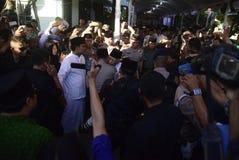 El jefe de policía de Tito Karnavian visitó el Pondok Pesantren Raudlatut Thalibin Rembang foto de archivo libre de regalías