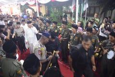 El jefe de policía de Tito Karnavian visitó el Pondok Pesantren Raudlatut Thalibin Rembang Fotos de archivo