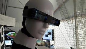 El jefe de un robot almacen de metraje de vídeo