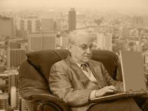 El jefe del estilo asunto-retro Imagenes de archivo