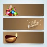 El jefe o la bandera del sitio web fijó para la celebración de Diwali ilustración del vector