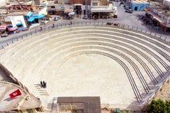 El Jem圆形剧场的外部入口,突尼斯 库存照片