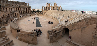 El Jem amfiteatr Tunezja Obrazy Stock