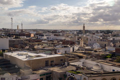 El Jem city view from the Roman amphitheater of Thysdrus, a town in Mahdia governorate of Tunisia Stock Photography
