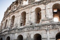 El Jem Coliseum ruins in Tunisia fighting gladiator Stock Photo