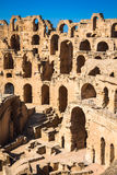 El Jem Coliseum ruins in Tunisia fighting gladiator Royalty Free Stock Photos