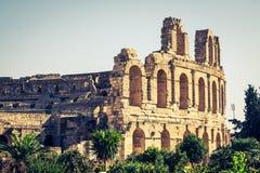 El Jem Coliseum ruins in Tunisia fighting gladiator Royalty Free Stock Image