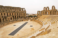 El Jem Colosseum. In Tunisia Stock Photos