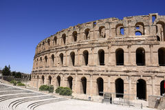 El Jem Colosseum, Landmark from Roman Empire at North Africa Stock Images