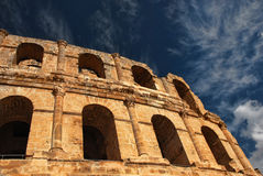 EL Jem Colosseum romain en Tunisie Photographie stock libre de droits