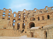 EL Jem Colosseum, Tunisie Images libres de droits