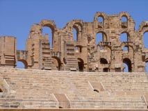 EL Jem Colosseum Walls Tunisia Fotografía de archivo libre de regalías