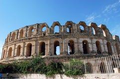 EL Jem em Tunísia fotografia de stock royalty free