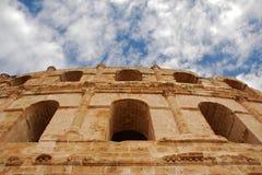 EL Jem römisches Colosseum in Tunesien Lizenzfreie Stockfotografie
