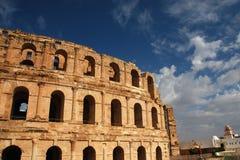 EL Jem römisches Colosseum in Tunesien Lizenzfreie Stockfotos