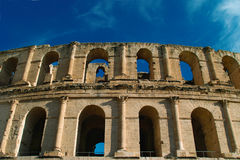 El-jem. The Roman Colosseum in El Djem is one of the largest Colosseums ever built and the jewel in the crown of the Roman town of Thysdrus which once held Stock Photography