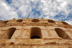 El Jem Roman Colosseum in Tunisia. Photo of the Roman Colosseum in El Jem in Tunisia Royalty Free Stock Photography