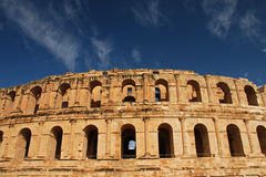El Jem Roman Colosseum in Tunisia. Photo of the Roman Colosseum in El Jem in Tunisia Stock Photos