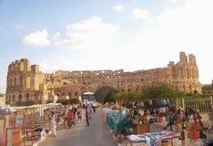 EL Jem Tunesien Lizenzfreies Stockfoto