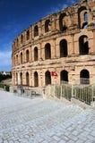 El Jem in Tunisia. Ancient amphitheater El Jem in Tunisia, world heritage site Stock Photos