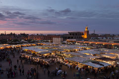 El Jemaa el fna sqare, Marrakesh Stock Photo