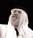 El jeque - un retrato blanco y negro Imagen de archivo libre de regalías